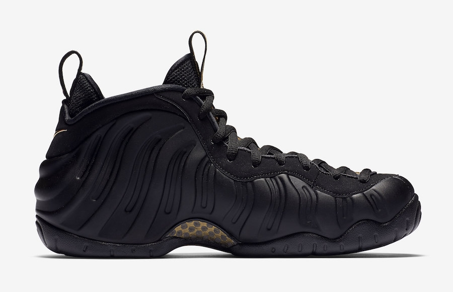 da183b787d58 Air Foamposite Pro Black Metallic Gold