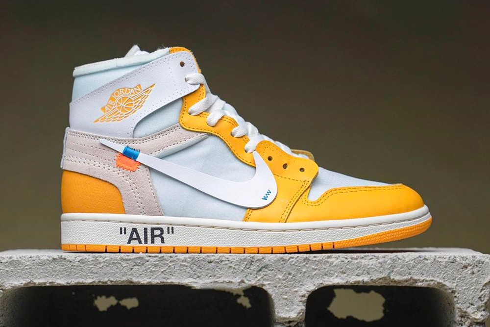 OFF-WHITE x Air Jordan 1 Yellow (Women)