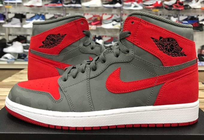 faece8067708 Air Jordan 1 Retro High Camo Grey Red  aj1-22  -  70.60   Kicks On ...