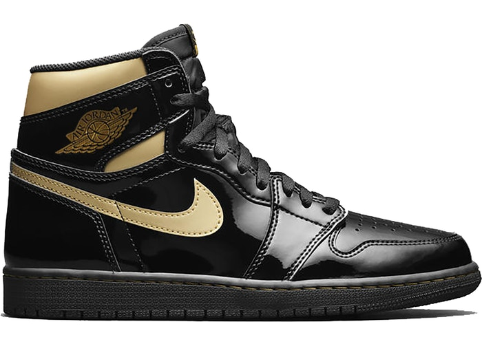 Air Jordan 1 Retro High Black Metallic Gold (2020) (Women)