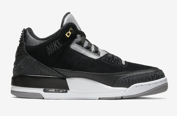 Air Jordan 3 Retro Tinker Black Cement Gold