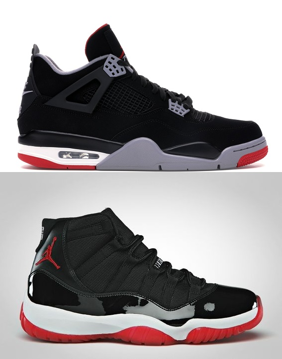 Air Jordan 4 & 11 Bred Pack #1
