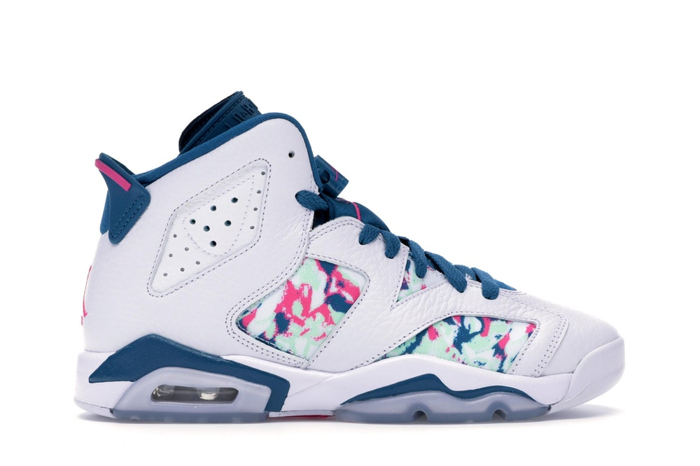 Air Jordan 6 Retro White Laser Fuchsia Green Abyss