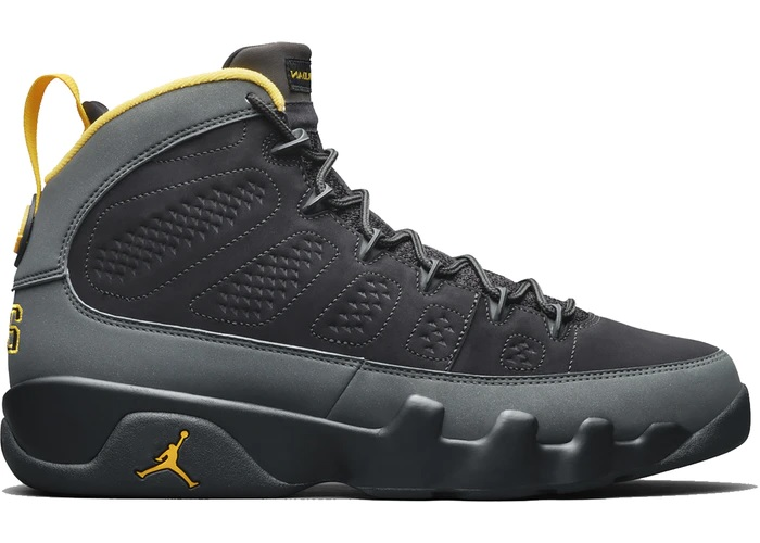 Air Jordan 9 Retro Dark Charcoal University Gold